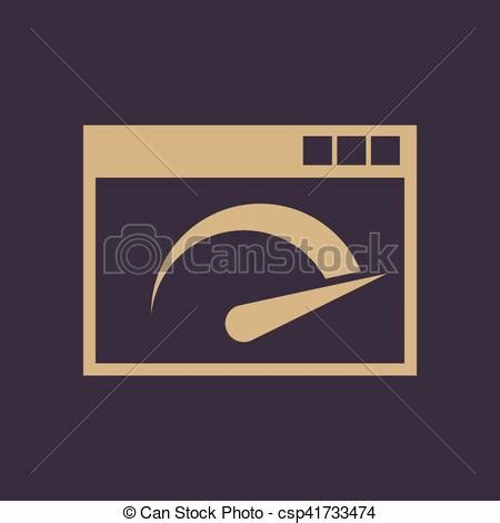 The speedy logo design and the artwork you are about to download is the intellectual property of the copyright and/or trademark holder and is. Speed internet test icon. vector design. speed test symbol ...