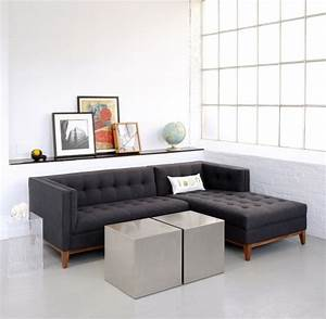 Small sectional sofa with chaise lounge apartment size for Sectional couches for small apartments