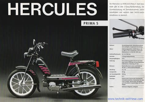 hercules prima 5 hercules prospekt 1992 hercules prima 5 prospekt bild
