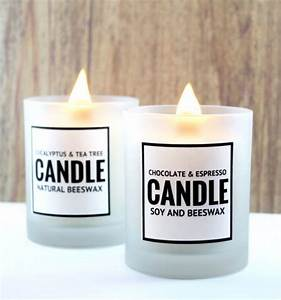 scented diy soy and beeswax candles with printable labels With beeswax candle labels