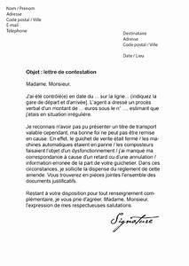Contravention Sncf Contestation : lettre de contestation amende sncf mod le de lettre ~ Medecine-chirurgie-esthetiques.com Avis de Voitures