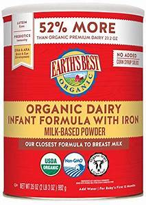 Earth U0026 39 S Best Organic Dairy Infant Powder Formula With Iron