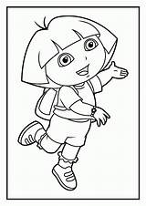 Coloring Dora Diego Printable Pdf Sheets Relay Explorer Friends Popular sketch template