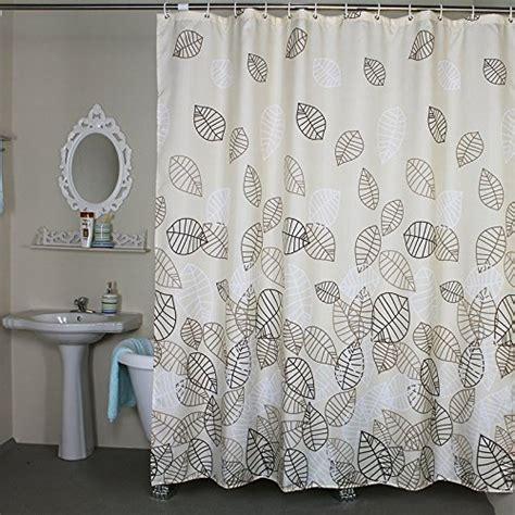 bathroom fabric bath shower curtain set leaves bath shower