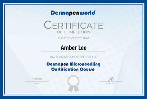 Certificate Courses by Dermapen Dermapen World