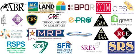 Realtor And Broker Designations