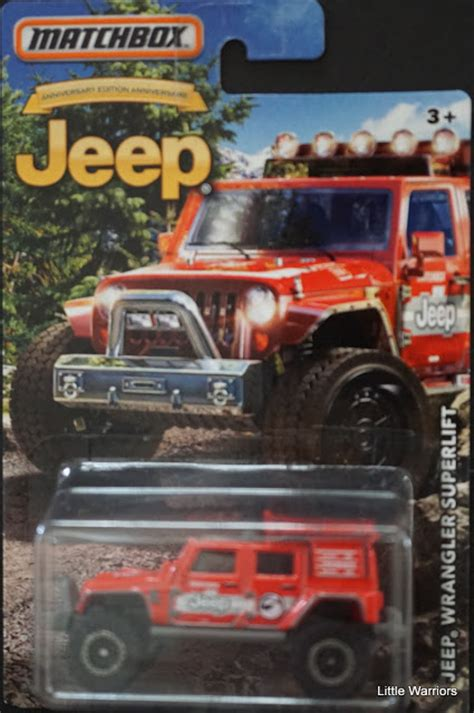 matchbox jeep wrangler superlift little warriors matchbox jeep wrangler superlift mb832