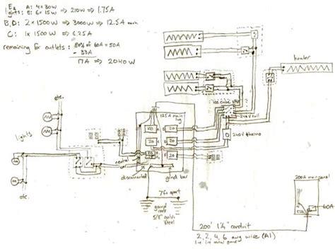 Feedback Subpanel Heating Circuits Wiring Diagram
