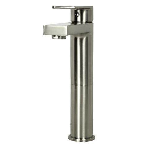 single hole bathroom sink faucet brushed nickel adrian brushed nickel bathroom vessel sink single hole faucet