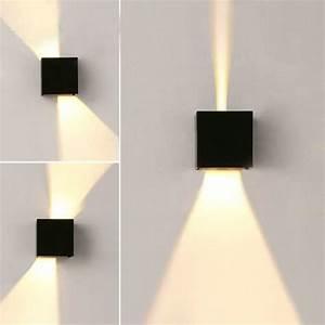 Appliques Murales Noires : 2pcs 7w applique murale led lampe decorative moderne carr ~ Edinachiropracticcenter.com Idées de Décoration