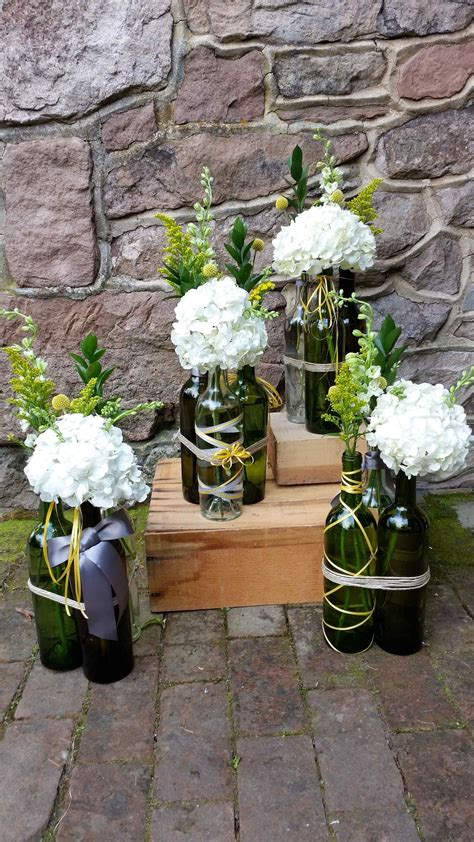 Blossom Bliss Florist Wedding Centerpiece Reclaimed wine