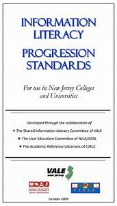 New Jersey Library Association / Progression Standards for ...
