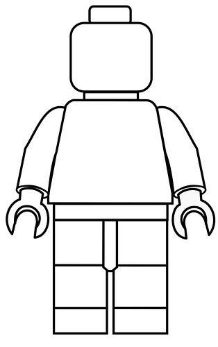 Kleurplaat Lego Poppetje by Lego Poppetje Kleurplaat Babytijd