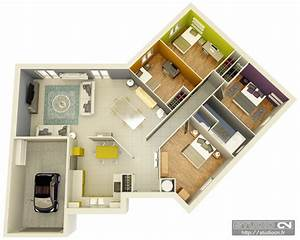 maisons crea concept c plans 3d plongeants With plan 3d maison en ligne