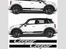 Zen Graphics Mini Cooper S side stripes Decals Stickers