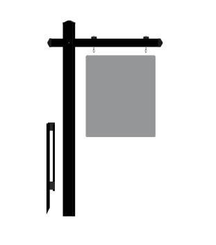 Colonial Post  Black  Reflective Real Estate Sign Company