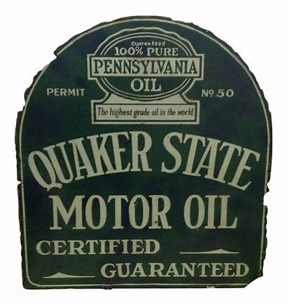 Quaker State Sign Oil Motor Advertising Chairish