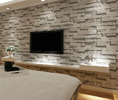living room with brick wallpaper stacked brick 3d stone wallpaper modern wallcovering pvc roll wallpaper brick wall background