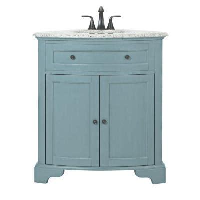 Corner Bathroom Sink Vanity Home Depot Home Decorators Collection Hamitlon 31 In W Corner Vanity