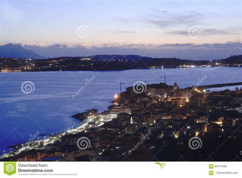 Vista Di Panorama Di Pozzuoli Fotografia Stock Immagine