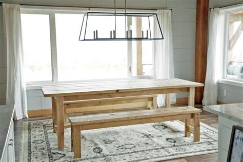 diy farmhouse table plans   rustic dinning room