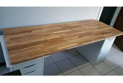 cr 233 ation de bureau sur mesure en bois avec