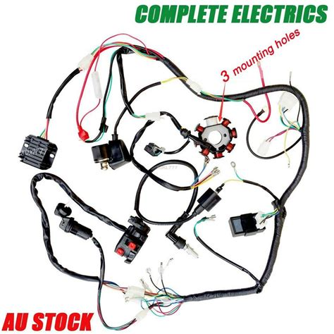 Wiring Harnes 200 250cc Electric Start Loncin by Wiring Harness 250cc Complete Electrics Start