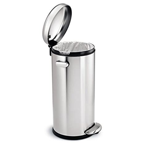stainless steel kitchen accessories simplehuman 30 litre retro pedal bin brushed stainless 5718