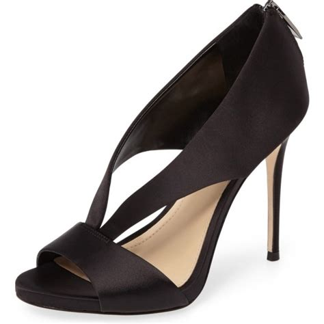 Formal High Heels Bagus s black satin cutout stiletto heels formal shoes for