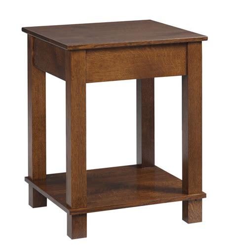 Mission Modular Corner Table In Solid Hardwood Ohio