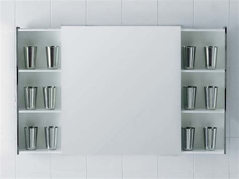 badspiegel mit regal left right spiegel mit aufbewahrung by ceramica flaminia design ludovica roberto palomba
