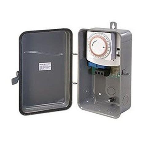 outdoor light timer westek 40 125 volt single pole single throw outdoor