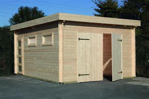 Garage Zu Groß Gebaut by Holzgaragen Gro 223 Koschener Holzblockh 228 User