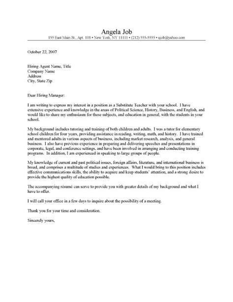 resume cover letter substitute letter of application letter of application substitute