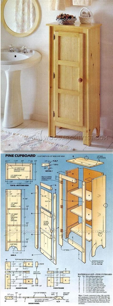 pine cupboard plans furniture plans  projects