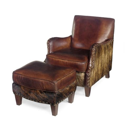 Western Cowhide Furniture by Cowhide Chair Western Chair Cowhide Ottoman Anteks