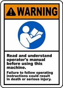 Read  U0026 Understand Manual Label J6412