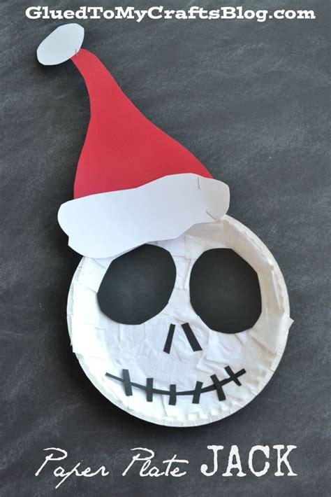 the nightmare before christmas paper plate jack kid craft
