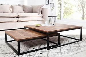 Table De Salon Design En Bois Table Basse Avec Plateau En
