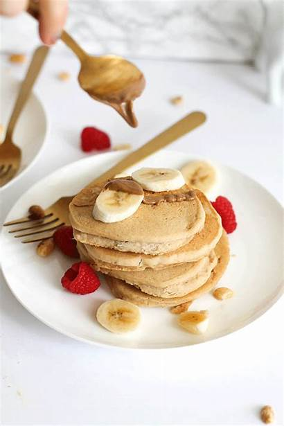 Butter Pancakes Peanut Fluffy Gf Syrup Perfect