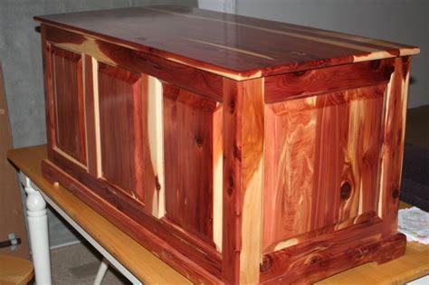 solid cedar raised panel blanket chest  tooldad