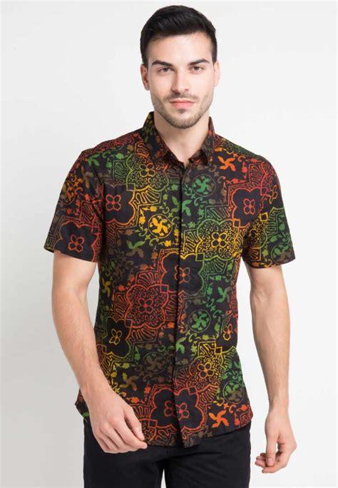 30 baju batik pria gaul kombinasi polos modern