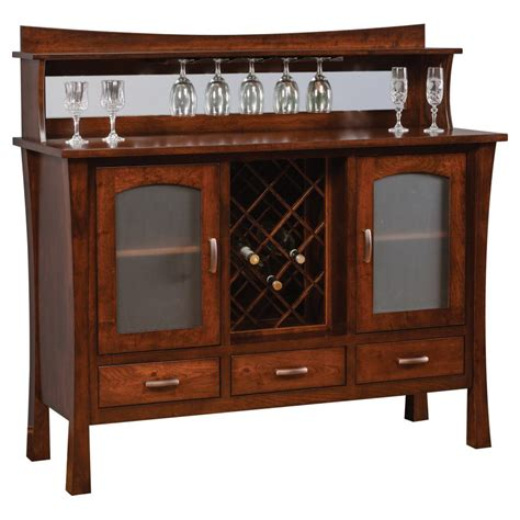 wine rack furniture woodbury collection buffet with wine rack amish crafted