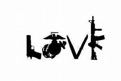 Usmc Ega Marine Corps Clipart Decal Gun