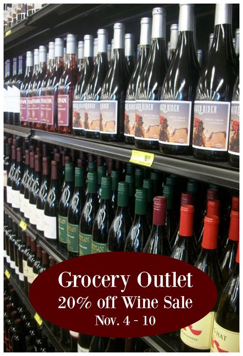 Grocery Outlet: 20% off Wine Sale, Nov 4 - 10th!