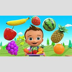 Learn Colors & Fruits Names For Children With Little Baby Fun Play Cutting Fruits Toy Train 3d