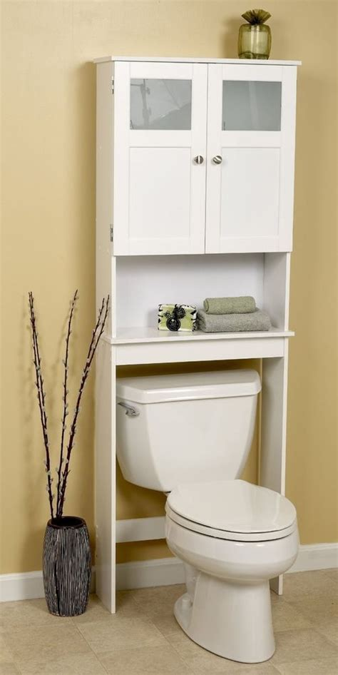 bath storage space saver   toilet shelf white