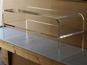 Acrylic coffee cocktail table lucite with shelf for for Clear lucite acrylic coffee table