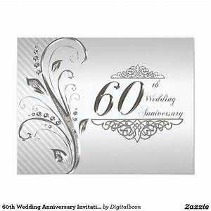 60th wedding anniversary invitation card With 60th wedding anniversary invitations