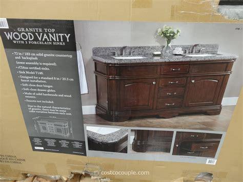 lanza   double sink vanity  granite top